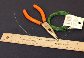 Easy Christmas Crafts Bell Ornament step 1 cut wire