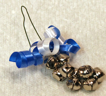 Easy Christmas Crafts Bell Ornament step 11 bend wire in half