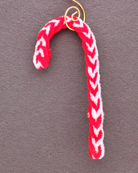 Braided Candy Cane Ornament