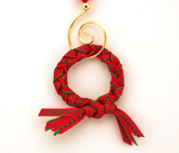 Braided Ribbon Wreath Ornament