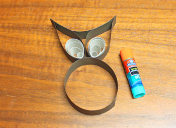 Buddy the Owl step 12 glue eyes