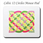 Pastel Celtic 12 Circles Mouse Pad on the funEZ Bazaar