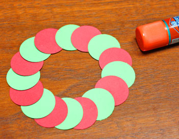Circle Wreath Ornament step 4 finish circles