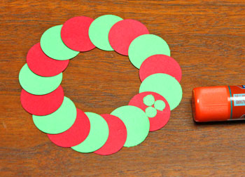 Circle Wreath Ornament step 5 add small circles