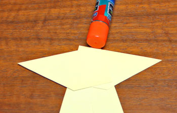 Curled Paper Angel step 4 glue second arm shape