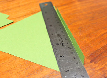 Diamond Shapes Christmas Tree step 10 fold first flap