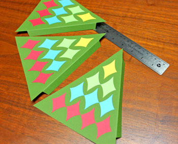 Diamond Shapes Christmas Tree step 11 fold other two flaps