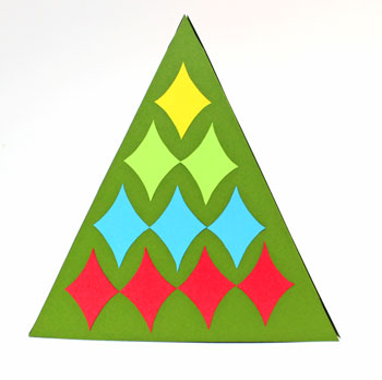 Diamond Shapes Christmas Tree step 14 display