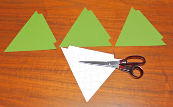 Diamond Shapes Christmas Tree step 2 cut triangles