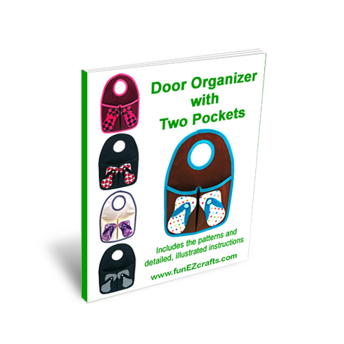 Door Organizer Two Pockets with Flip Flops - Detailed Instructions