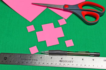 Drinking Straw Mosaic Ornament step 1 cut the card stock background