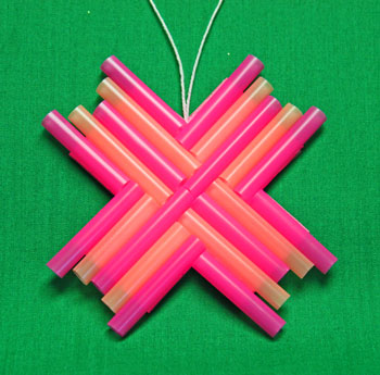 Drinking Straw Mosaic Ornament