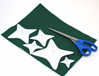 Felt and Chenille Wire Christmas Tree step 1 cut out pattern