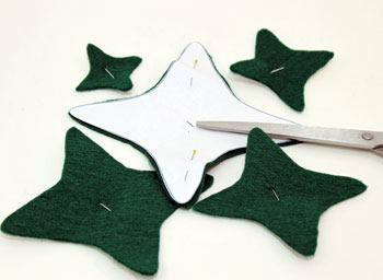 Felt and Chenille Wire Christmas Tree step 2 cut out shapes