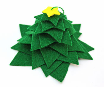 Felt Stars Christmas Tree step 7 ready to display or decorate further