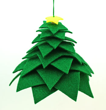 Felt Stars Christmas Tree step 8 hang to display
