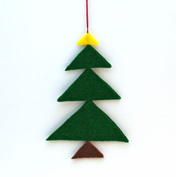 Felt Triangles Christmas Tree finished and on display