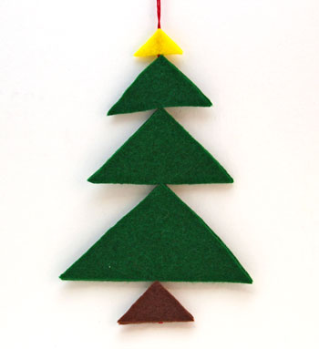 Felt Triangles Christmas Tree step 6 ready to display or decorate