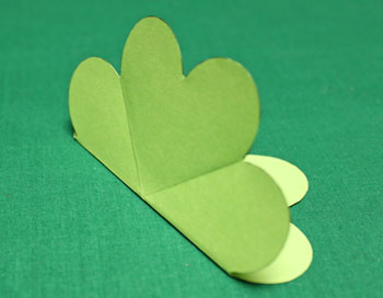 Folded Heart Ornament step fold shape in half for third time