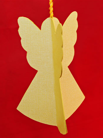 how to make folded paper angel