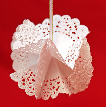 Folded Paper Doily Ornament