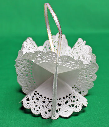 Folded Paper Doily Ornament step 12 prepare to display