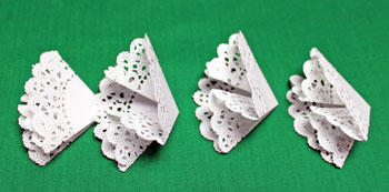 Folded Paper Doily Ornament step 5 fold other shapes