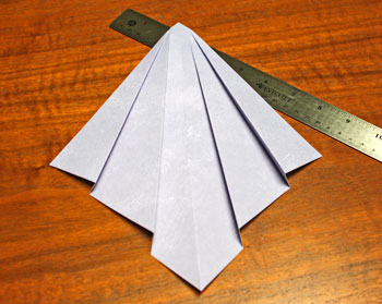 Folded Square Paper Angel step 5 finish folds