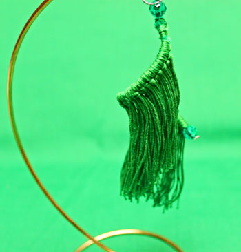 Fringed Yarn Ornament