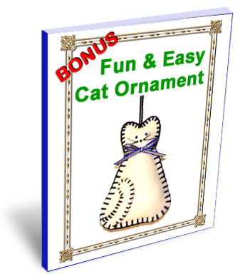 Fun and Easy Cat Ornament e-book