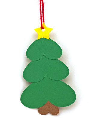funEZcrafts - Easy Christmas Crafts Heart Paper Christmas Tree ...
