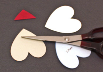 Heart Santa Ornament step 1 cut shapes