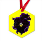 Blue Pansy Ornament from funEZ Bazaar