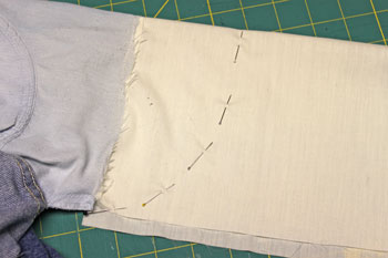 How to repair jeans pocket step 11 pins show where to sew