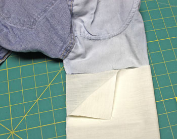 How to repair jeans pocket step 2 cut repair fabric
