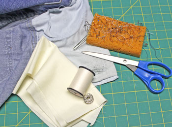 How to repair jeans pocket tools and materials