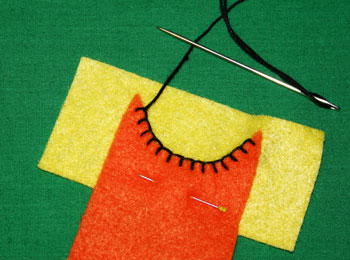 How to sew blanket stitch overlay step 11 pull thread taut