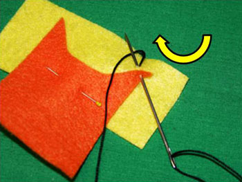 How to sew blanket stitch overlay step 5 wrap thread under needle