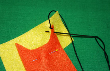 How to sew blanket stitch overlay step 6 evenly stitch