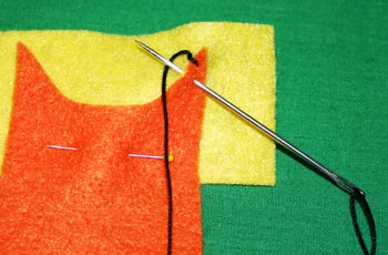How to sew blanket stitch overlay step 7 wrap thread under needle