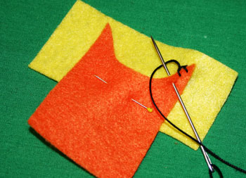 How to sew blanket stitch overlay step 8 continue stitches