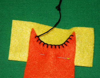 How to sew blanket stitch overlay step 9 stitches evenly spaced