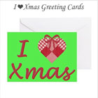 I Heart Xmas Greeting Cards on the funEZ Bazaar