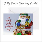 Jolly Santa Claus Greeting Cards on the funEZ Bazaar