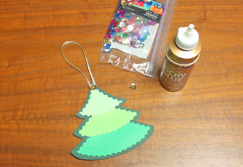 Layered Christmas Tree step 7 glue sequin star