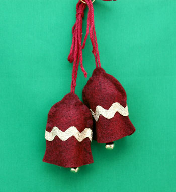 No Sew Felt Bell Ornament