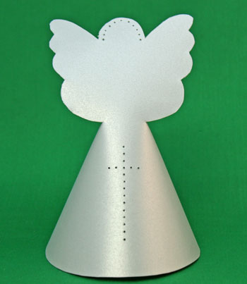 Paper Cone Angel With Wings silver version