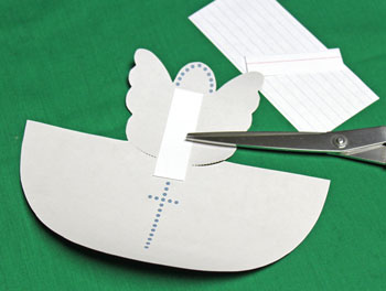 Paper Cone Angel With Wings step 4 cut stabilizer