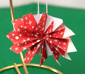 Paper Pinwheel Wreath Ornament