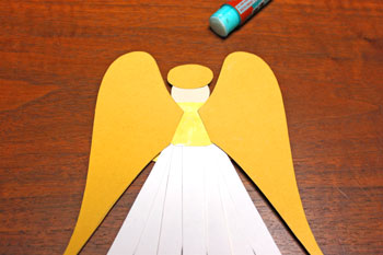 Paper Shapes Angel step 12 glue wings